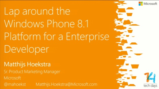 Lap Around Windows Phone 8.1 voor de Enterprise developer