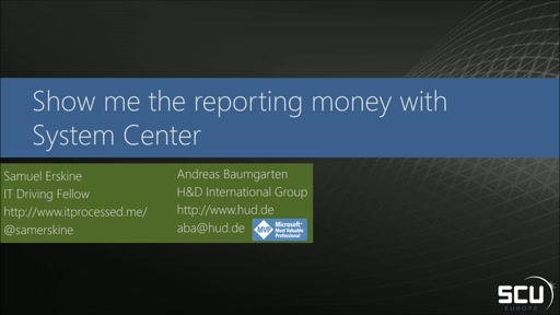 Show me the reporting money with System Center