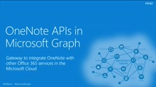 OneNote APIs in Microsoft Graph