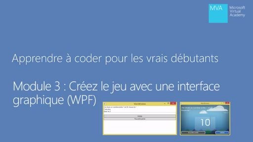 MVA Code Débutants 03.1- Interface Graphique