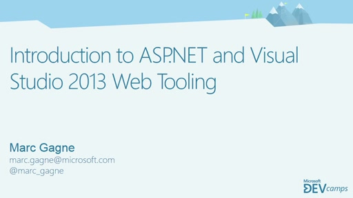 Introduction to ASP.NET and Visual Studio 2013 Web Tooling