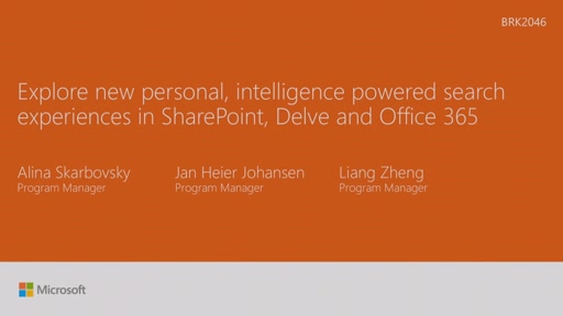 Explore new personalized, intelligence powered search experiences in SharePoint, Delve and O365