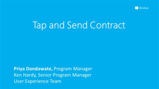 Tap and Send Contract