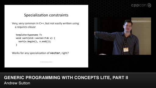 Generic Programming with Concepts Lite, Part II