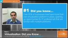 TechNet Radio: (Part 1) Virtualization: Did You Know...