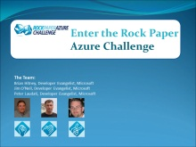 Rock Paper Azure Challenge - Part 5 (of 5) - Enter The Rock Paper Azure Challenge
