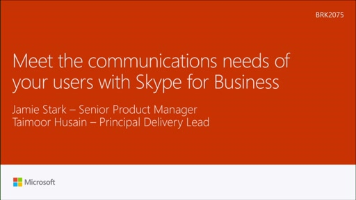 Meet the communications needs of your users with Skype for Business