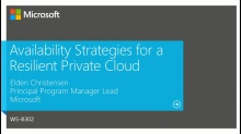 Availability Strategies for a Resilient Private Cloud
