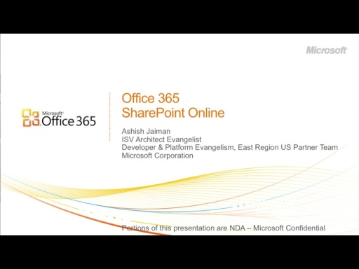 February 2011 Developer Dinner: Office 365 and SharePoint Online