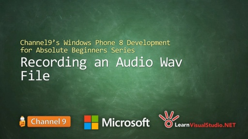 Part 20: Recording an Audio Wav File