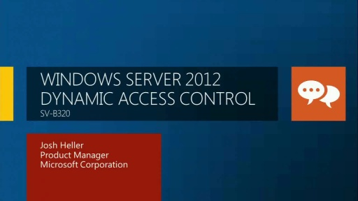 "Windows Server ""8"" Dynamic Access Control"