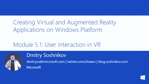 5.1 | User interactions in Virtual Reality