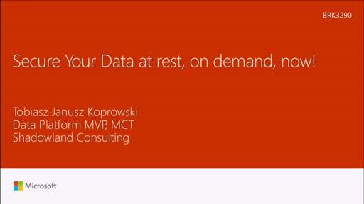 Secure your data at rest - on demand, now!