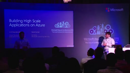 Day 2 : Chalk Talk Meeting Room4 - Building High Scale Applications on Azure