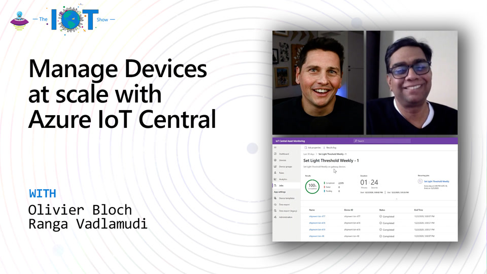 Manage Devices at scale with Azure IoT Central