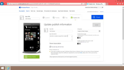How to Publish an App Studio app to the Windows Phone Store