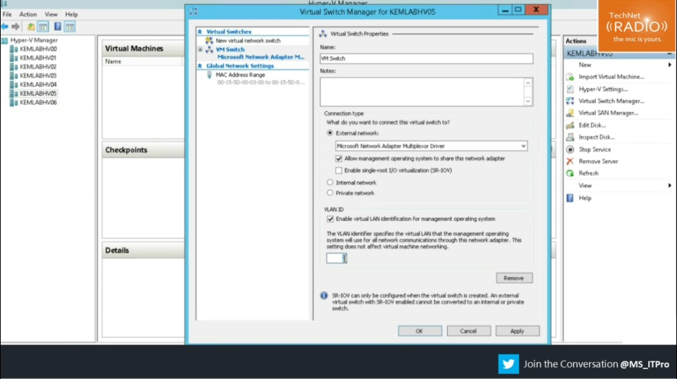TechNet Radio: (Part 9) Hyper-V from a VMware Admin's Perspective - How does Networking work in Hyper-V?