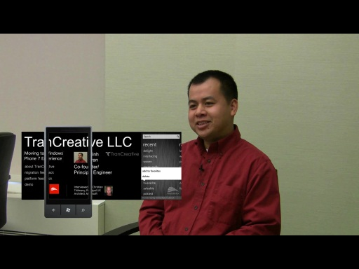 Minh Tran TranCreative- Experience developing for Windows Phone 7