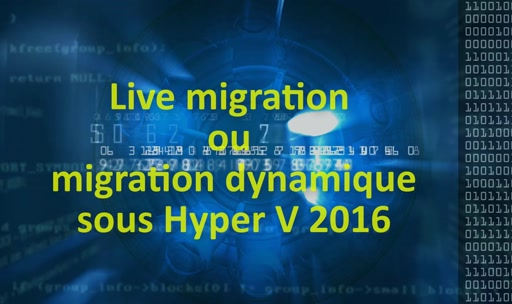 The live Migration with Hyper V 2016