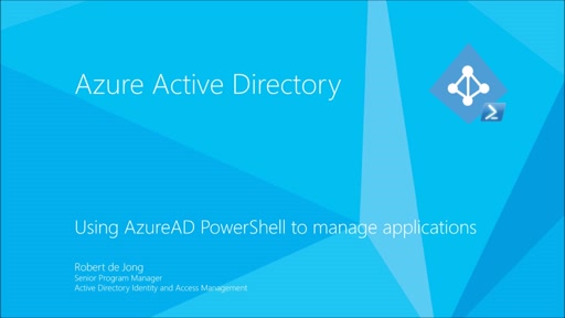 Managing applications in Azure Active Directory using PowerShell