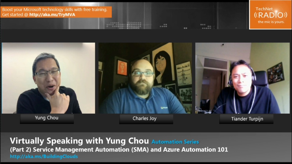 TechNet Radio: Automation Series (Part 2) Service Management Automation (SMA) and Azure Automation 101
