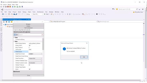Using SQLite in Visual Studio Projects