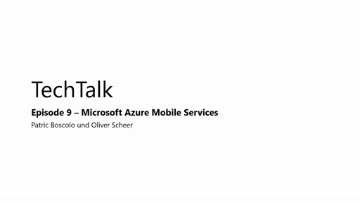 Episode 9 - Azure Mobile Services