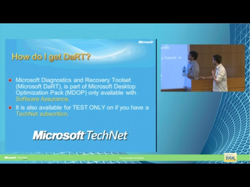 Daniel Alonso: DART - Diagnostics and Recovery Toolset | TechNet Series