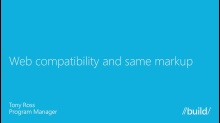 Web Compatibility and Same Markup