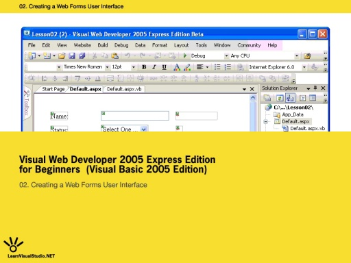 Lesson 1:] Getting Started with Visual Web Developer Express