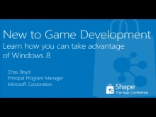 Shape'12: New to game development? Learn how you can take advantage of Windows 8