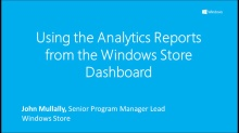 Using the Analytics Reports from the Windows Store Dashboard