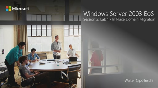 02 | Migrazione in-place di un dominio basato su Windows Server 2003