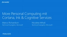More Personal Computing mit Cortana, Ink und Cognitive Services