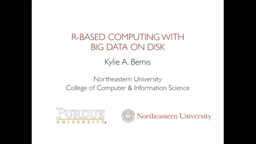 R-based computing with big data on disk