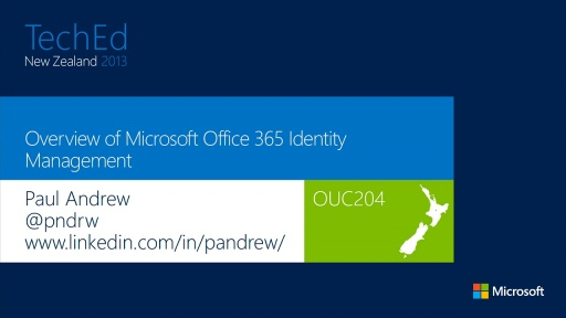 Overview of Microsoft Office 365 Identity Management