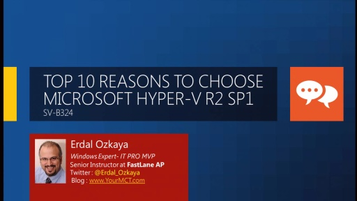 Top 10 Reasons to Choose Microsoft Hyper-V R2 SP1