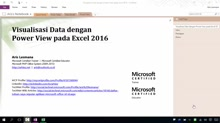 02 Aris Lesmana - Visualisasi Data dengan Power View pada Excel 2016