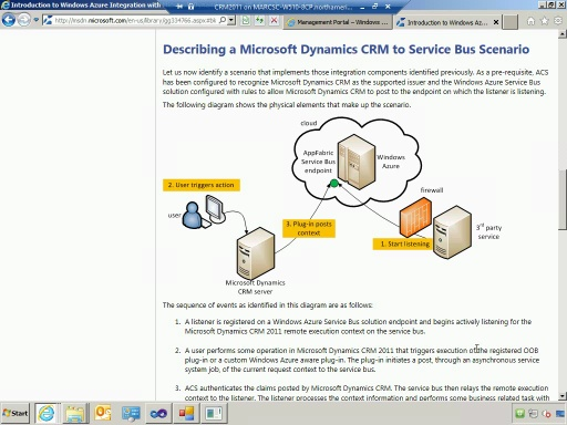Integrating with systems behind a firewall from CRM Online using Windows Azure Service Bus Relay
