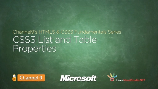 CSS3 List and Table Properties - 15