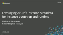 Leverage Azure instance metadata for instance bootstrap and runtime