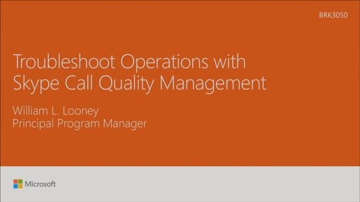 Troubleshoot operations with Skype Call Quality Management