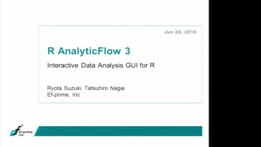 R AnalyticFlow 3: Interactive Data Analysis GUI for R
