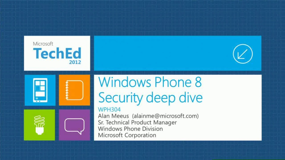 Windows Phone:  Security Deep Dive