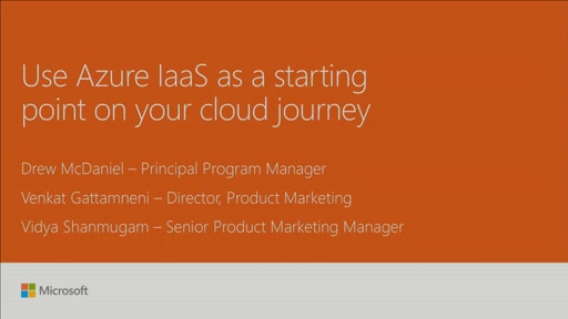 Use Azure Infrastructure-as-a-Service (IaaS) as a starting point on your cloud journey