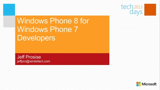 Windows Phone 8 for Windows Phone 7 Developers
