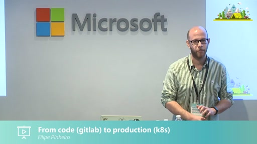 From code (gitlab) to production (k8s)