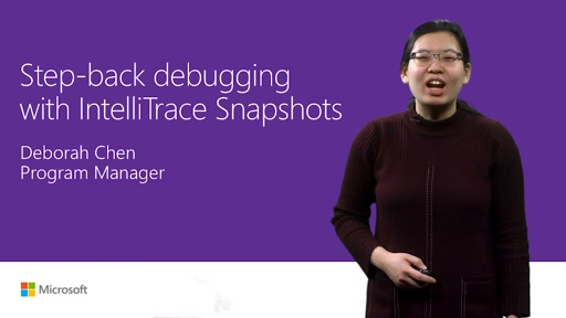 Step-back debugging with IntelliTrace snapshots