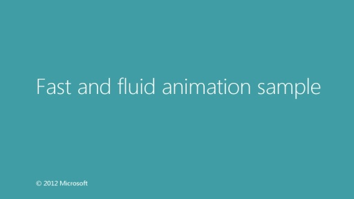 Fast and fluid animation sample
