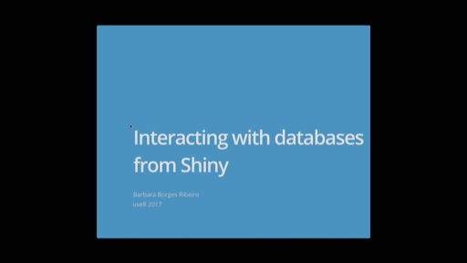 Interacting with databases from Shiny